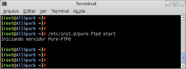 Pure-ftpd start