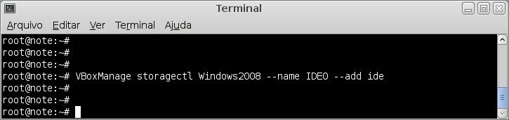 Adicionando controladora IDE